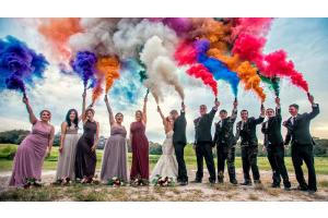 Где можно использовать цветной дым фото