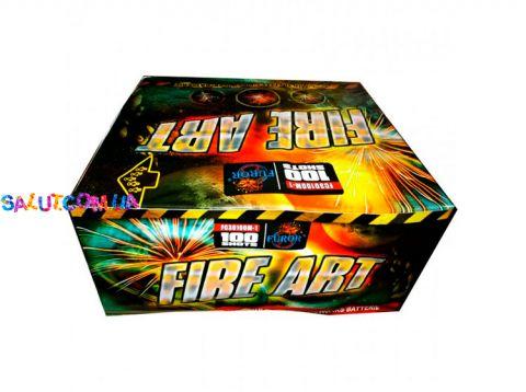 Фейерверк Fire Art на 100 выстрелов + Веер