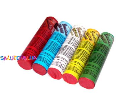 Набор разноцветных дымовых шашек