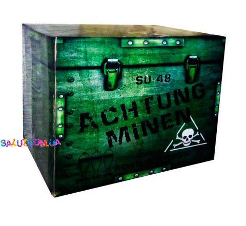 Салютная установка Achtung minen 48 залпов (калибр 40 мм.)