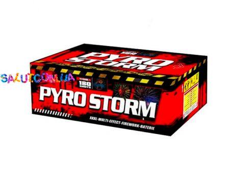 Салютная установка Pyro Storm 180 залпов калибр 20,25,30 мм