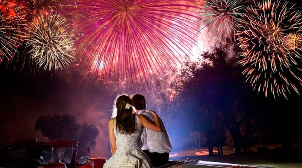 Как выбрать лучший салют на свадьбу: Топ 5 рейтинг свадебных фейерверков
