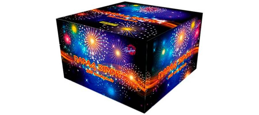 Фейерверк Парад звезд на 100 зарядов фото